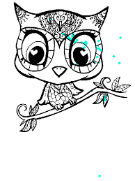 600x800 owl cartoon character coloring page