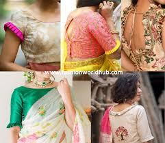 Latest Frill Blouse Design Trending Blouse Designs With Frills Pleats Fashionworldhub