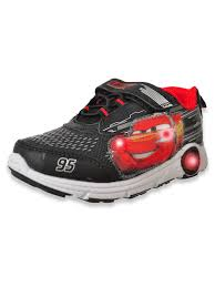 Cars Light Up Shoes Cars Wheeled Sole Boys Light Up Sneakers By Disney In Black