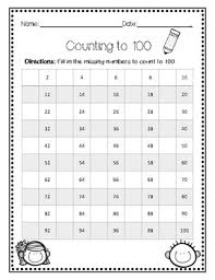 Hundred Chart Worksheet Hundreds Chart Worksheets