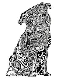 Animal Coloring Pages For Adults Dog Coloringstar