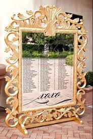 Mirror Seating Chart Decoration Image Ideas