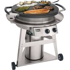 evo professional classic wheeled cart flattop gas grill