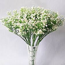 ysber 10pcs baby breath gypsophila artificial fake silk plants wedding party decoration real touch flowers