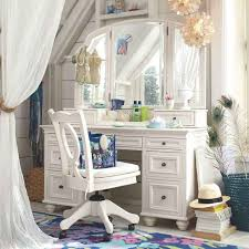 incredible image of girl bedroom design and decoration using wheel white wood makeup chair including white