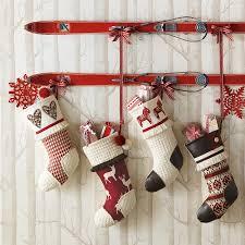 christmas stockings decorating a bathroom christmas