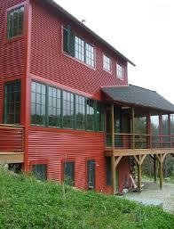 corrugated metal house