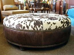 cowhide ottoman round cowhide ottoman round cowhide ottoman round awesome large round ottoman coffee table best