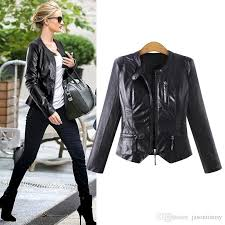 hodisytian winter fashion women jacket slim fit pu leather coat street biker jackets cardigans outerwear casaco feminino plus size women jacket pu leather