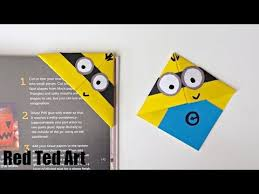 minion crafts corner bookmarks red ted art s