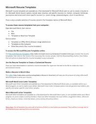 Cover Letter Microsoft Word Letter Idea 2018