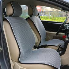 breathable mesh car seat covers pad fit for most cars summer cool seats cushion luxurious universal size car cushion leather seats covers for cars leather