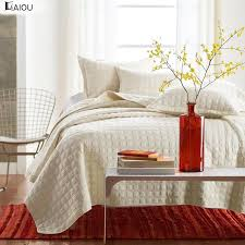 aiou ivory white king size bedspread coverlet comforter cotton quilt set with pillow shams bedspreads and throws bedspreads for from jiguan