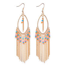colorful dangle chandelier earrings