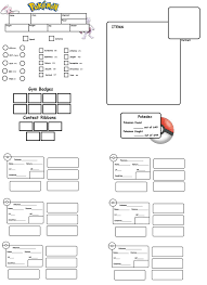 pokemon tabletop character sheet pokemon tabletop character sheet template by chuchymacu on deviantart