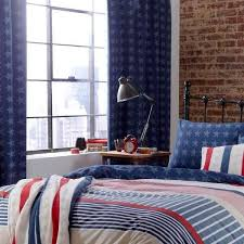 catherine lansfield stars and stripes tab top lined curtains multi 66x72 inch