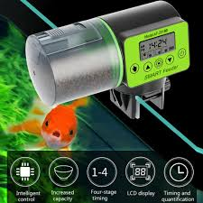 <b>LCD Electronic Automatic Fish</b> Feeder Aquarium Fish Tank Auto ...