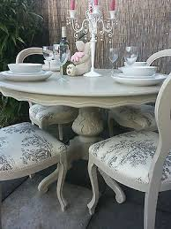 white dining table shabby chic country. French Shabby Chic Louis Dining Table And Balloon Back Chairs - Annie Sloan Painted With Chalk Paint In The \u0027Country Grey\u0027 Shade Over \u0027Old White Country R