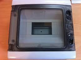 8 module enclosure trip contactor mcb waterproof hinged door image is loading 8 module enclosure trip contactor mcb waterproof hinged
