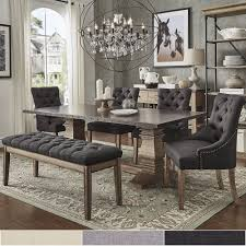 Voyager Wood and Zinc Balustrade 6-Piece Rectangle Dining Set by iNSPIRE Q  Artisan (