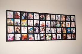 mod podge wall photo collage