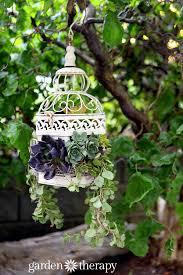 decoration ideas with birdcage planters