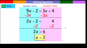 solving equation with variables on both sides of the equation you