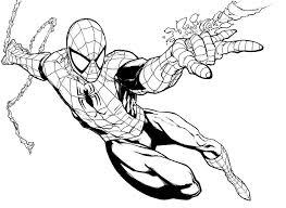 Avengers Coloring Pages Sean Spiderman Drawing Spiderman