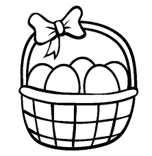 Small Picture Easter Basket Decorated with Ribbon Coloring Page Batch Coloring