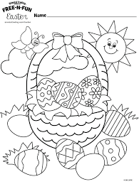 Easter Coloring Book Easter Basket Coloring Page By Oriental Trading