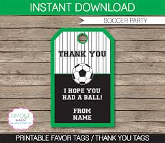 Soccer Party Invite Soccer Party Favor Tags Template