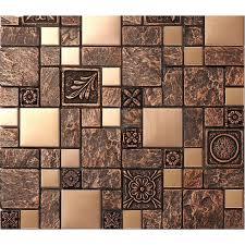 mosaic tile patterns. Contemporary Mosaic Brushed Stainless Steel Tile Sheets Kitchen Backsplash Brass Glass Mosaic  Resin Patterns B963 Bathroom Shower Designs  Intended Mosaic Tile Patterns T