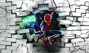 3d spiderman through wall character