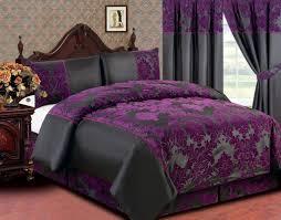 purple and black duvet cover set sweetgalas within plan 1