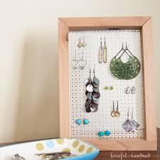 Earring Display Stand Diy Easy DIY Earring Stand a Houseful of Handmade 33
