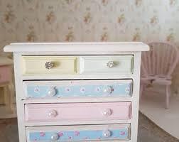 pink nursery furniture. Shabby Chic Miniatures,Dollhouse Miniatures,Doll House Furniture,shabby Tall Boy, Pink Nursery Furniture B