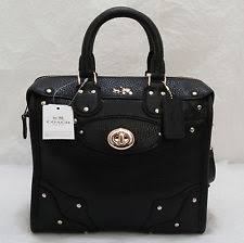 Grey birch COACH Mini Rhyder 33 Satchel in Pebbled Leather Handbag 36049  Black NWT Coach Legacy Large ...
