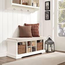 Entryway Bench Coat Rack Plans Modern Entryway Storage Bench White With 100 Pillows Bench 7
