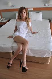 Extreme skinny brunette masturbation