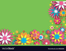 Paper With Flower Border Colorful Floral Card Paper Cut Flowers Border