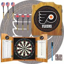Philadelphia Flyers Bedroom Philadelphia Flyers Pine Wood Cabinet Dartboard With 2 Dart Sets