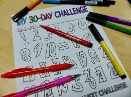 30 And 31 Day Challenge Coloring Pages Kitty J Mackey