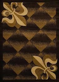 fleur de lis rug brown rug fleur de lis kitchen rug