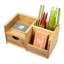 desk tidy. Unique Tidy Desk Organiser With Drawer Pen Holder Tidy Made Of Bamboo Throughout Tidy Amazon UK