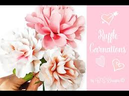 Paper Carnation Flower Carnation Paper Flower How To Diy Flowers Youtube