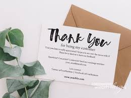 Instant Business Thank You Cards Editable Pdf Purchase