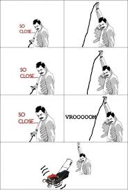 Freddie Mercury Meme - So close via Relatably.com