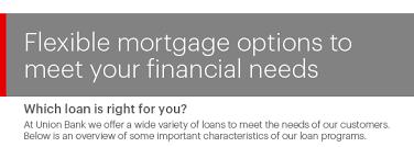Compare Mortgage Options Compare Union Bank Home Loans