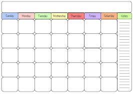 Printable Full Page Blank Calendar Template Drgokhanakturk Com