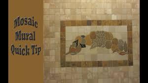 Pre Made Mosaic Designs Pre Made Mosaic Tile Mural Install Quick Tip